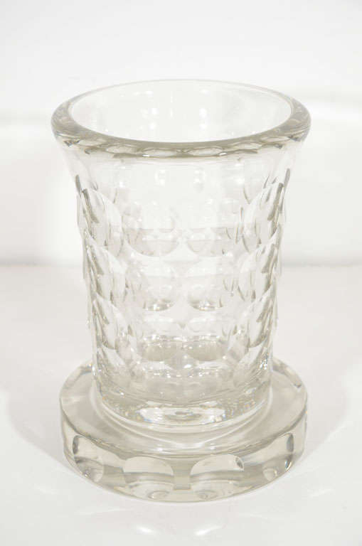 Rare and Refined Art Deco Crystal Vase by Jean Luce, French, circa 1930 2