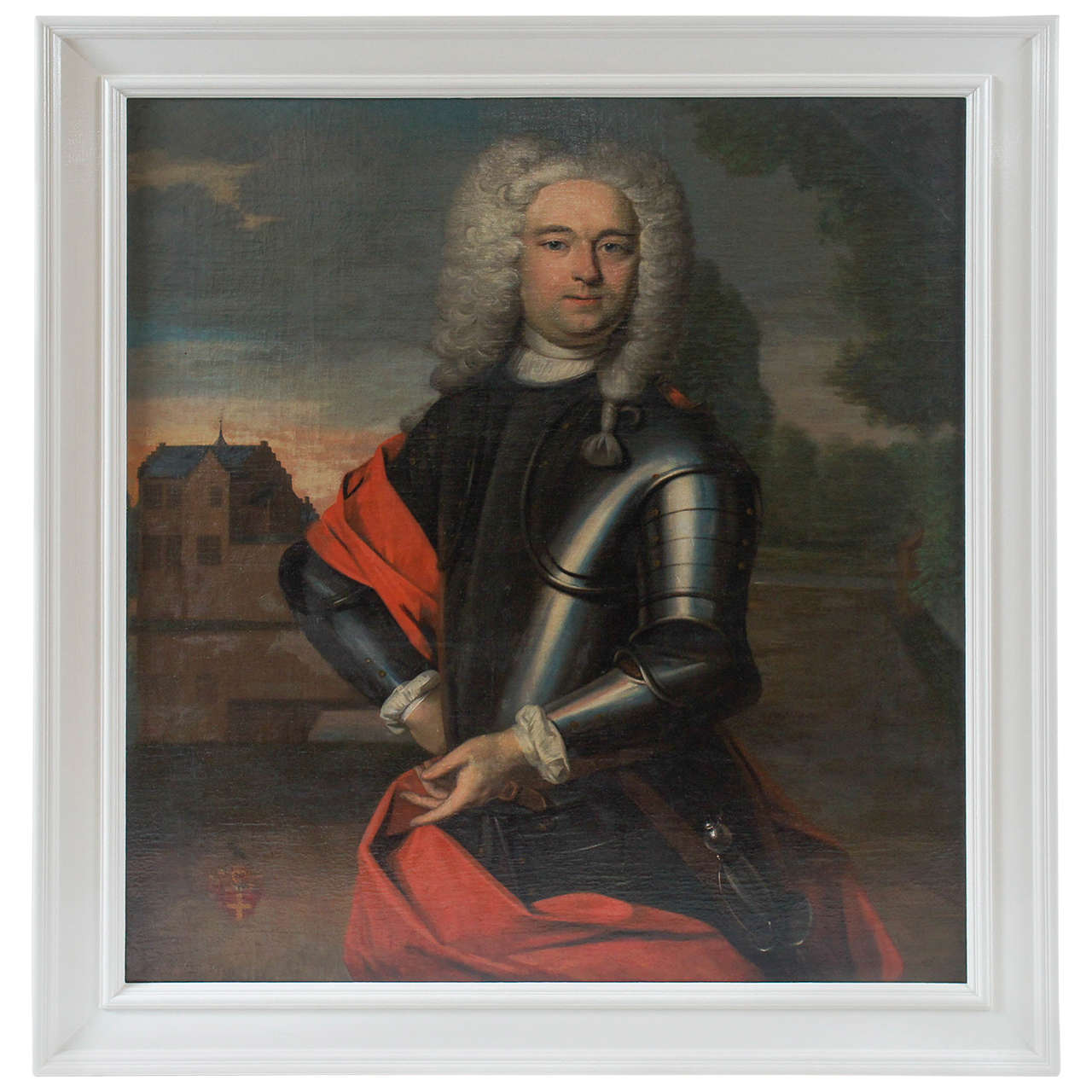 Important Portait Painting of a Nobleman, The Netherlands, circa 1760 1