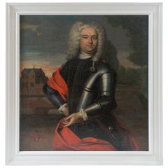 Armorial Portrait Painting of a Nobleman, the Netherlands, circa 1760