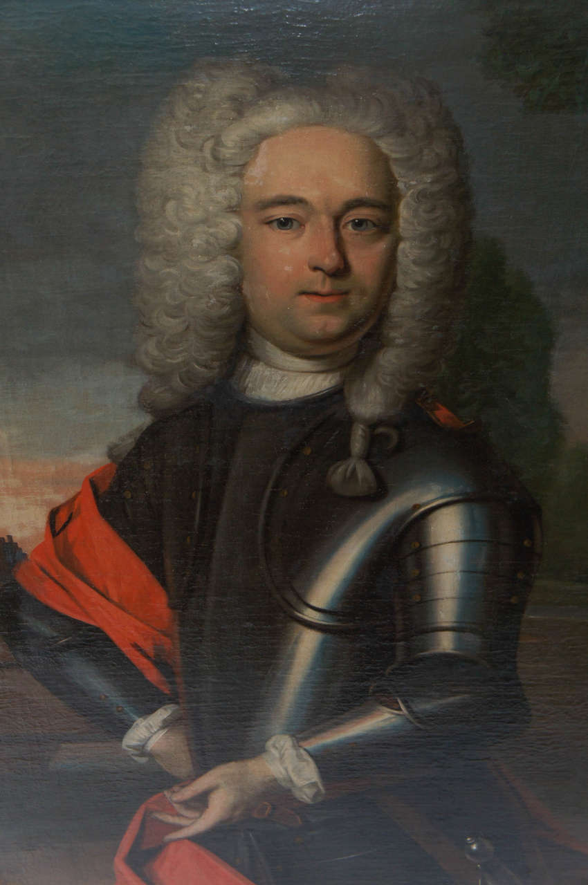 Important Portait Painting of a Nobleman, The Netherlands, circa 1760 3