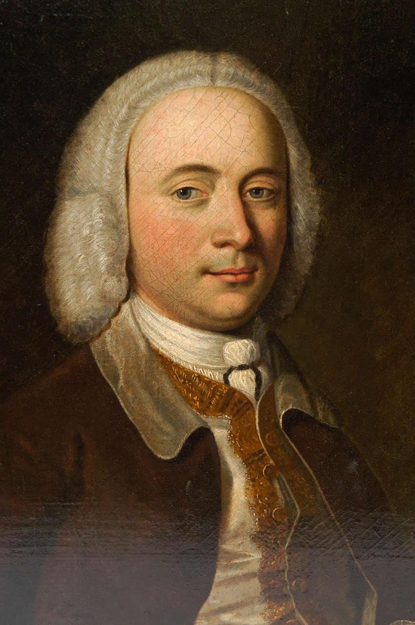 Exceptional Portrait of a Gentleman, England, circa 1740 3