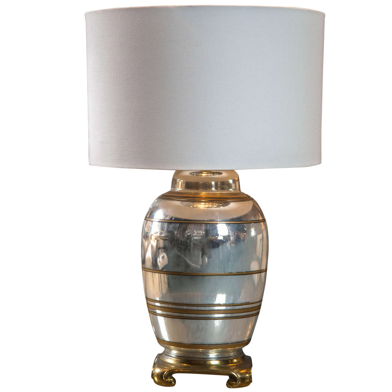 French Mercury Glass Lamp For Sale At 1stdibs