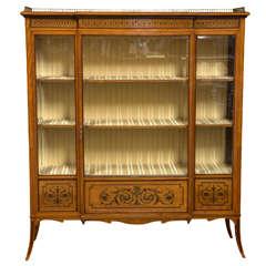 Satinwood Edwardian Cabinet by Edwards & Roberts