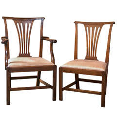 Set of Ten George III Dining Chairs
