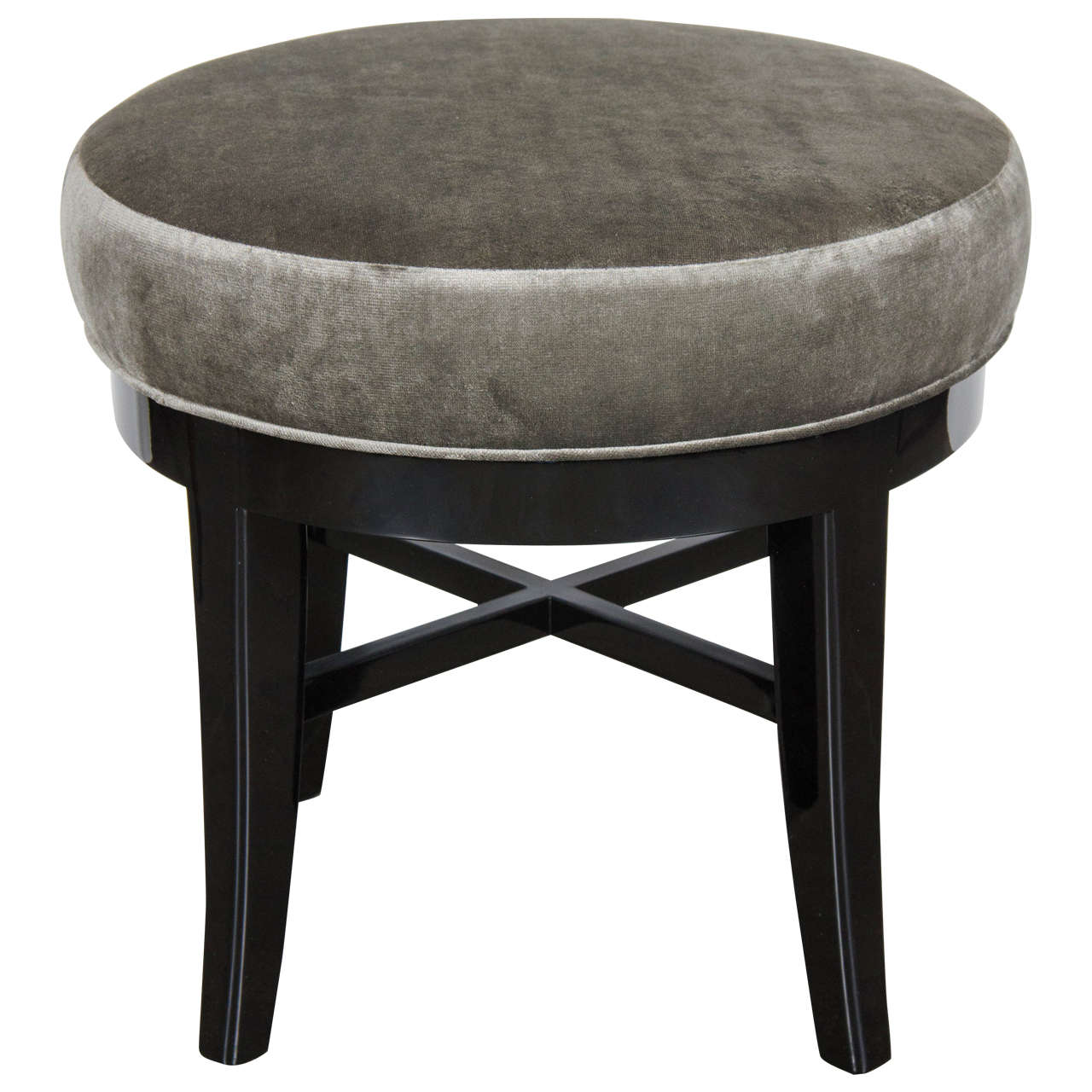 Phenomenal Mid Century Modernist Round Swivel Vanity Stool With X Form Dailytribune Chair Design For Home Dailytribuneorg