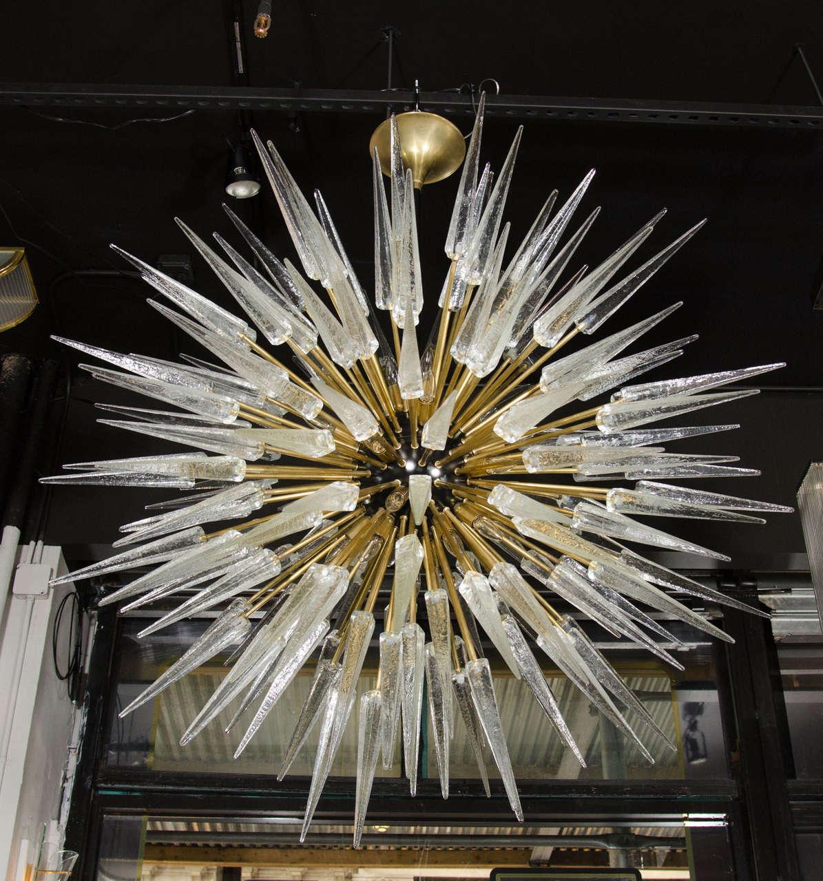 Impressive and Monumental Murano Glass Spiked Starburst
