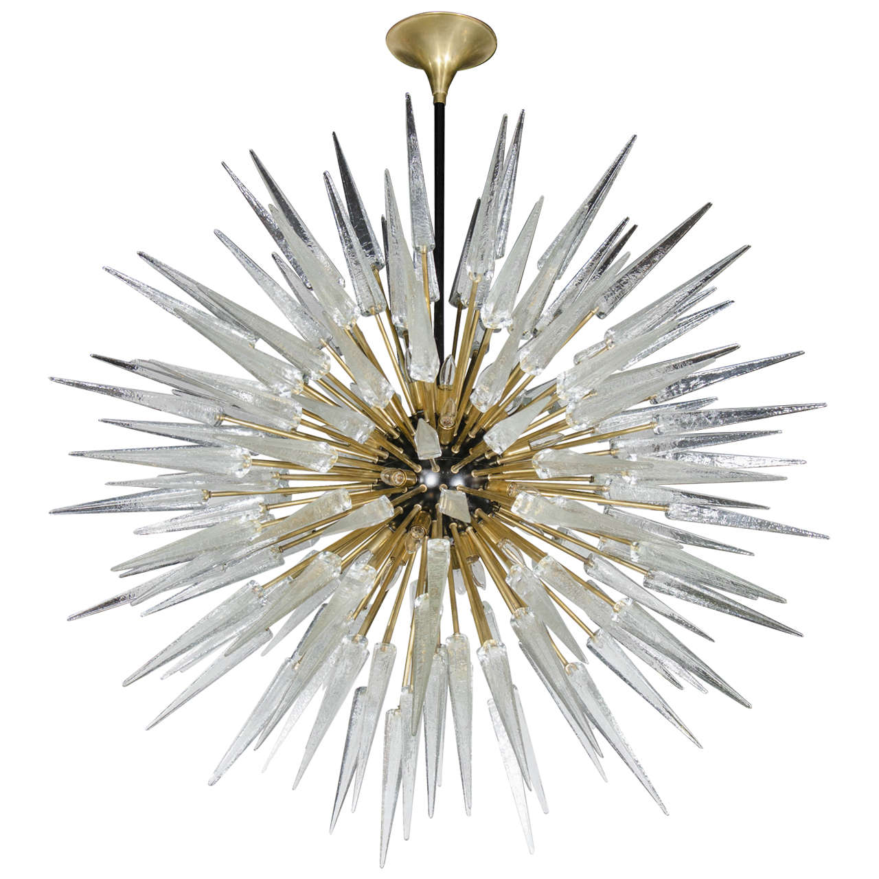 Impressive and monumental murano glass spiked starburst chandelier impressive and monumental murano glass spiked starburst chandelier for sale mozeypictures Images