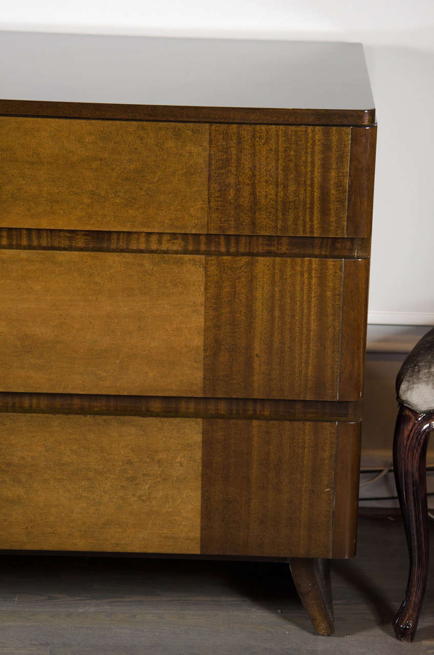 Art Deco Chest in Book-matched Mahogany & Exotic Elm, Manner of Eliel Saarinen 3