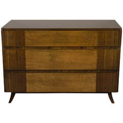 Art Deco Chest in Bookmatched Mahogany and Exotic Elm, Manner of Eliel Saarinen