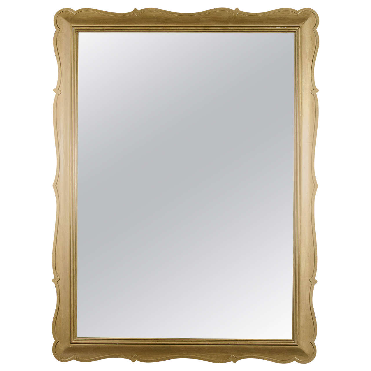 Elegant Scalloped Frame Mirror With Gold Leaf Finish