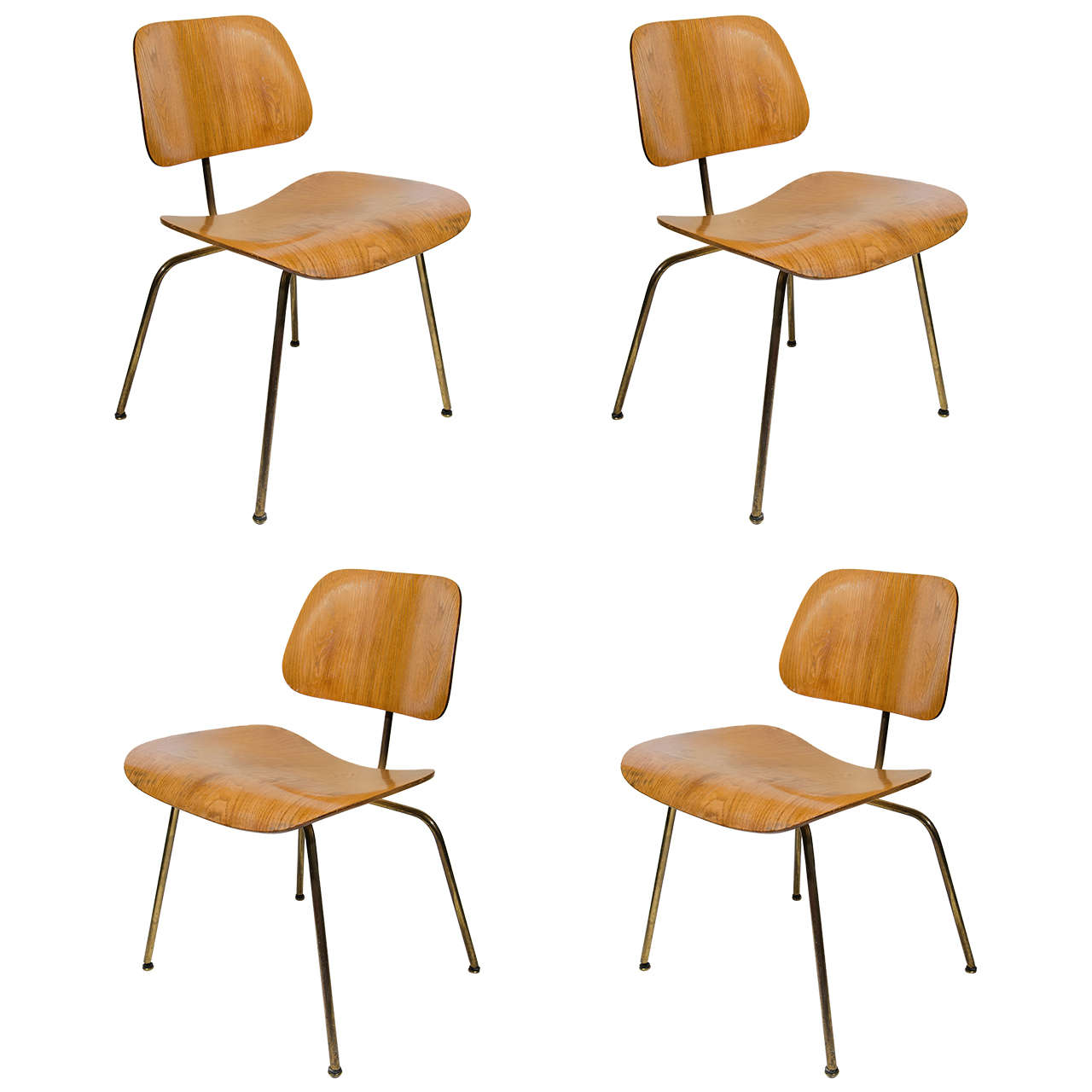 set of four iconic modernist bentwood chairs designed by eames for herman miller 1