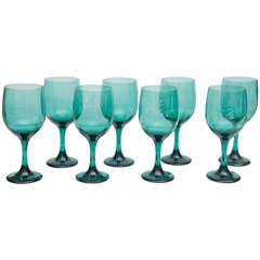 Set of Eight Bristol Wine Glasses