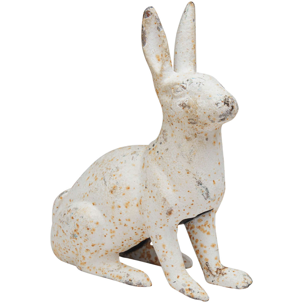 Cast Iron Rabbit Garden Ornament Or Doorstop At 1stdibs