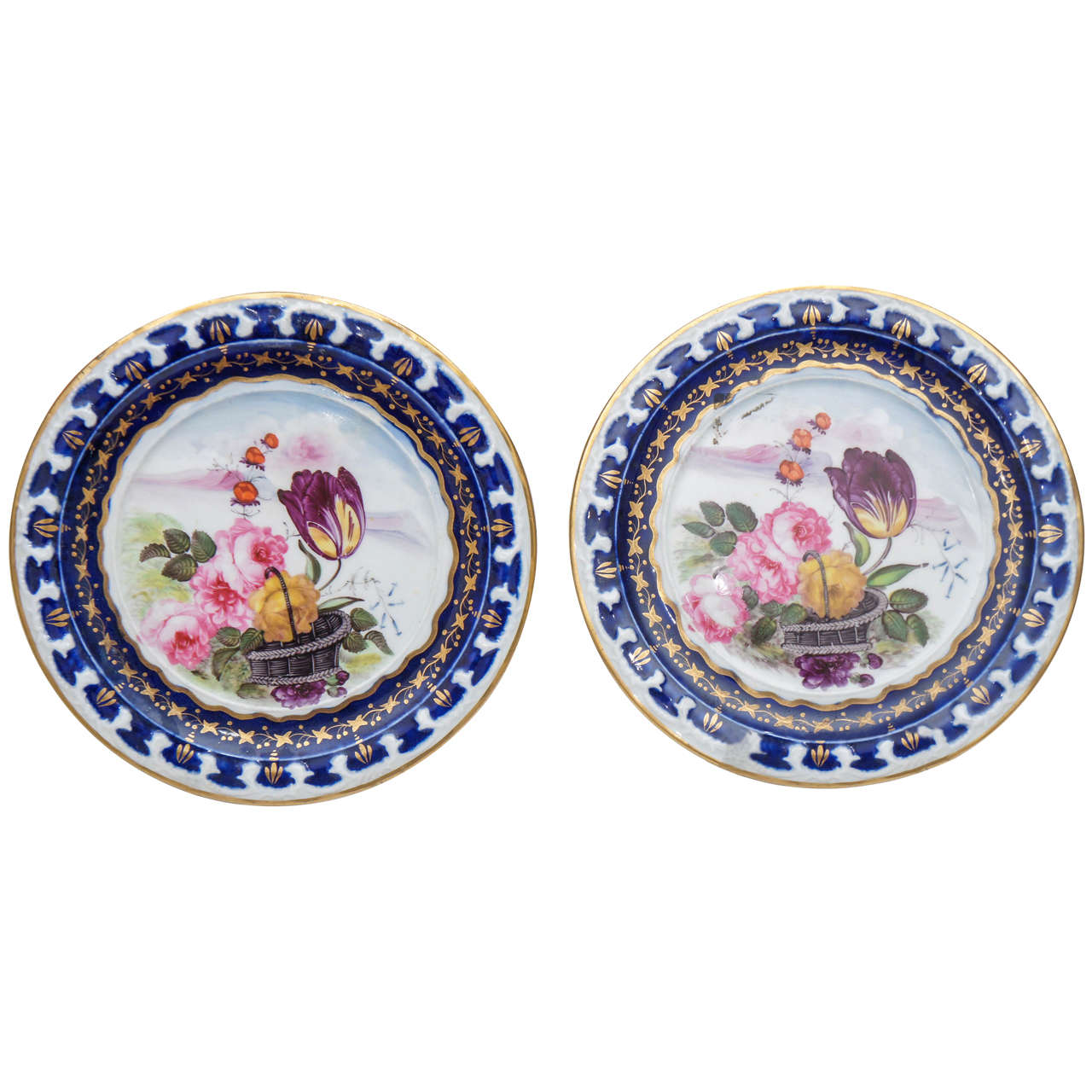Pair of Vieux Paris Small Decorative Plates For Sale  sc 1 st  1stDibs & Pair of Vieux Paris Small Decorative Plates For Sale at 1stdibs