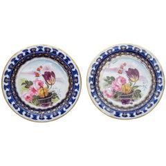 Pair of Vieux Paris Small Decorative Plates
