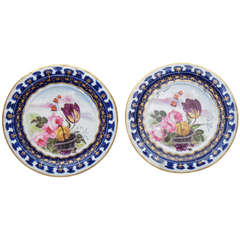 Pair of Vieux Paris Small Decorative Plates