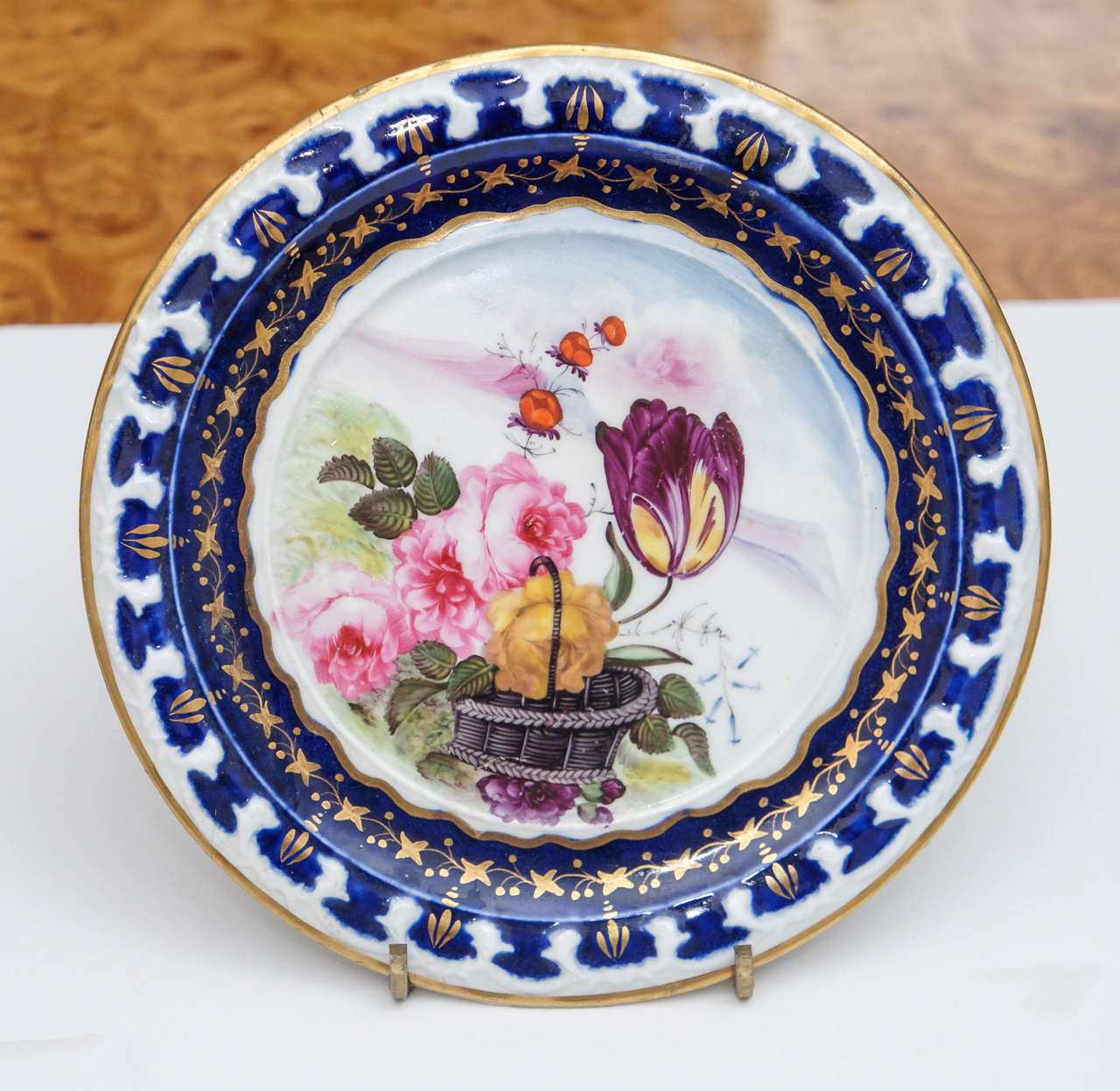 French Pair of Vieux Paris Small Decorative Plates For Sale  sc 1 st  1stDibs & Pair of Vieux Paris Small Decorative Plates For Sale at 1stdibs