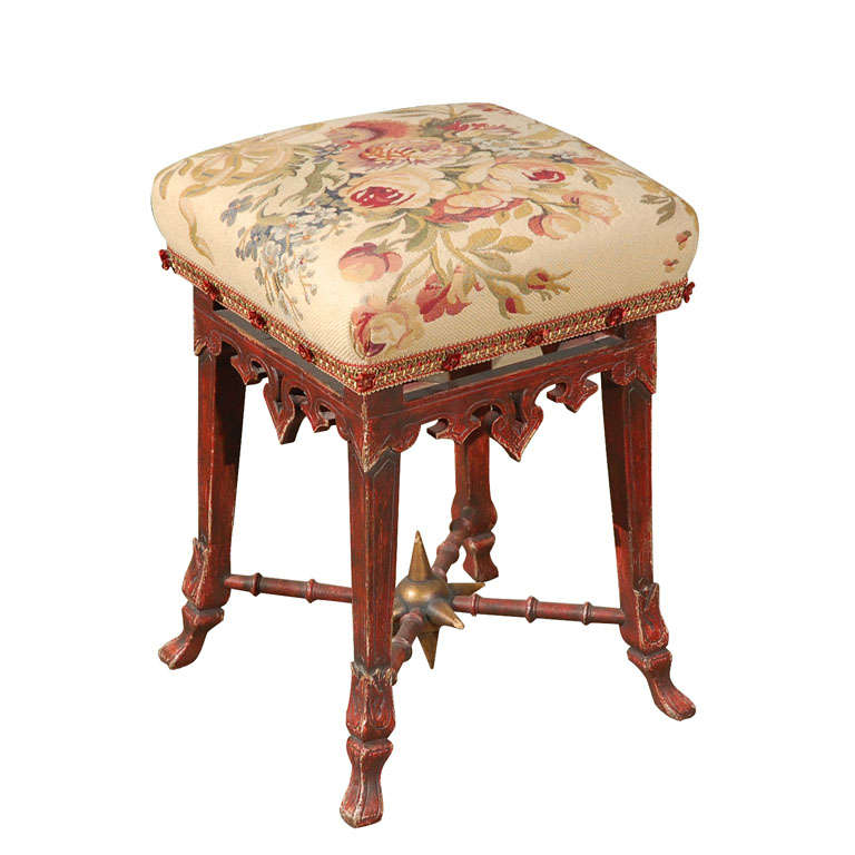 French Napleon III Stool, circa 1860
