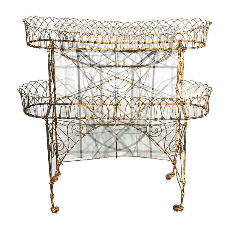 wire two tier plant stand 1