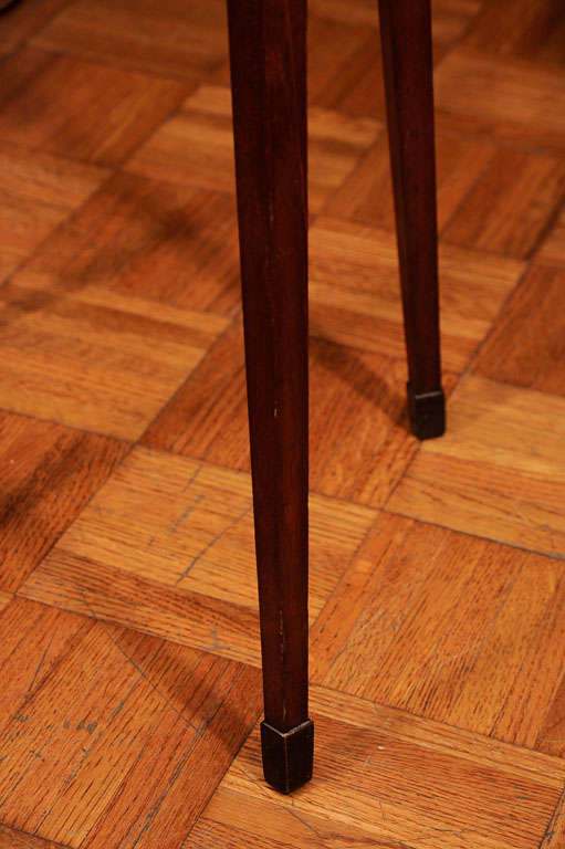 Unusual Flame Mahogany Port Or Candle Stand At 1stdibs