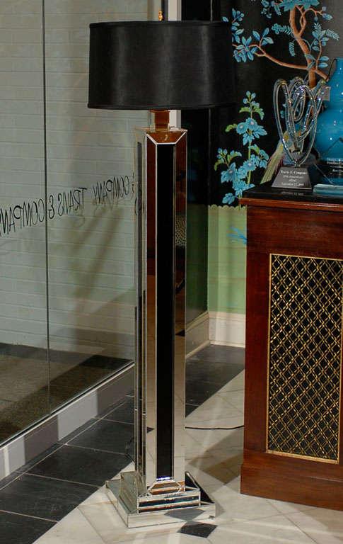 Pedestal Floor Lamp In Mirror At 1stdibs