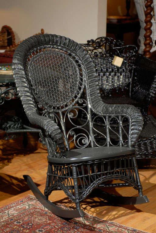 Heywood Wakefield Victorian Child S Rocking Chair C 1900