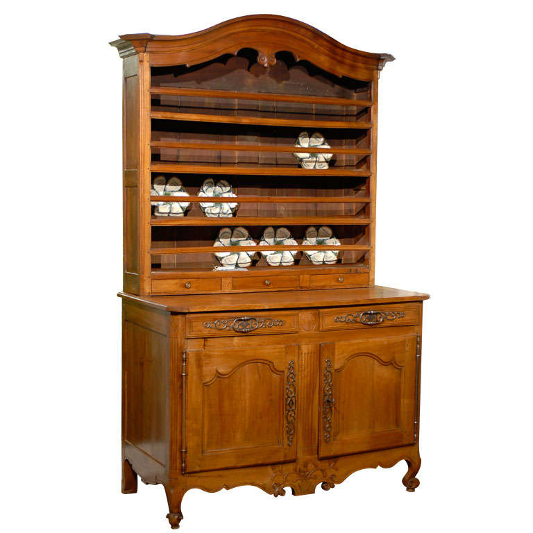 Early 19th Century French Walnut Vaisselier