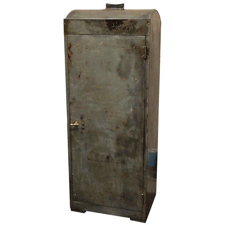 English Industrial Metal Cabinet, circa 1920
