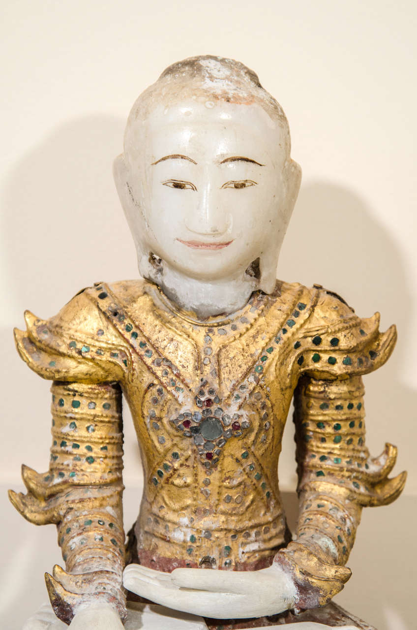 Burmese Mandalay Style Buddha With Royal Costume