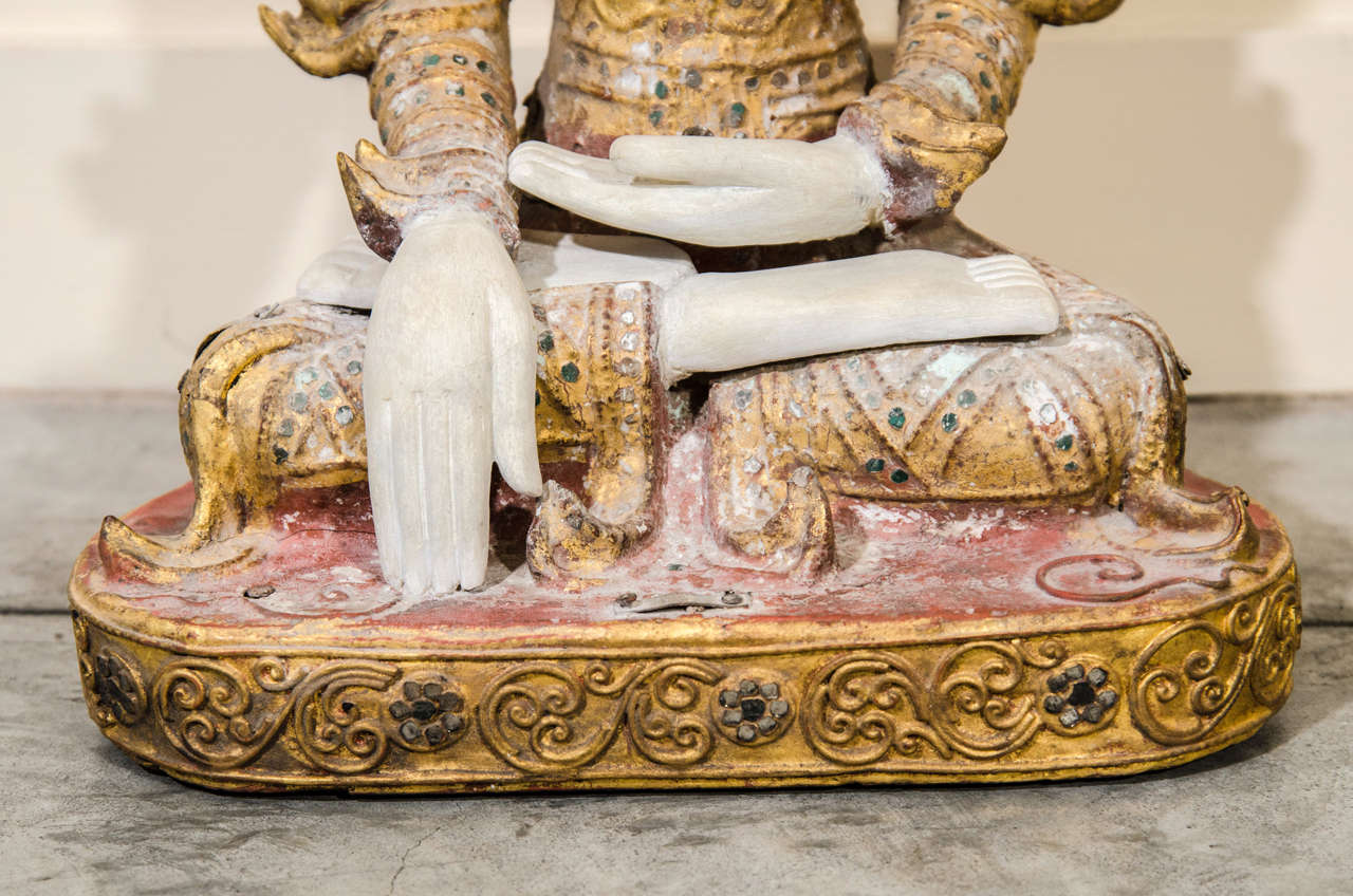 Mandalay Style Buddha With Royal Costume In Good Condition In New York, NY