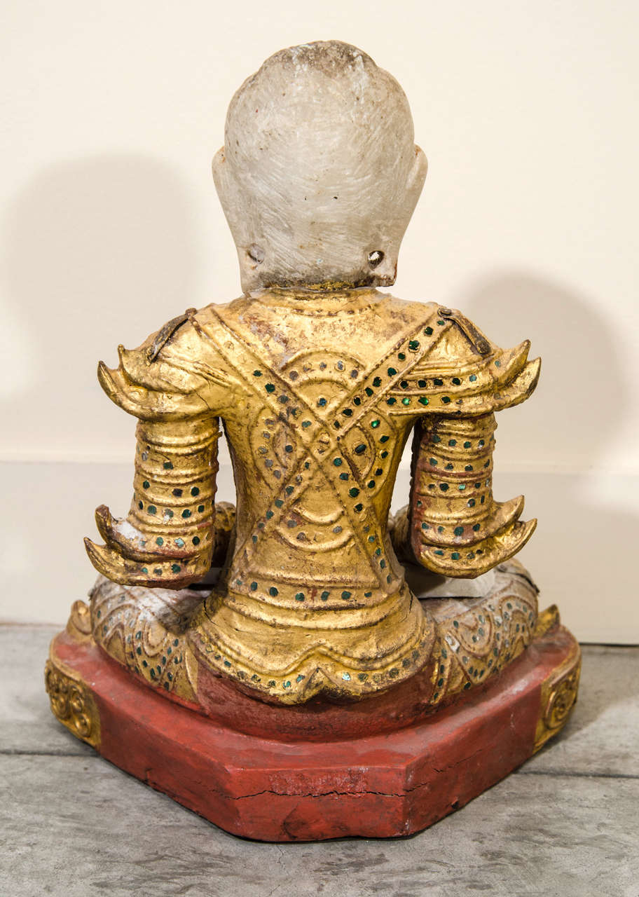 Mandalay Style Buddha With Royal Costume 1