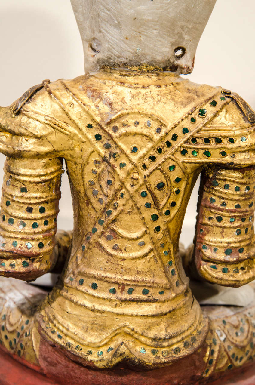 Mandalay Style Buddha With Royal Costume 2