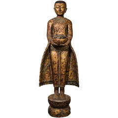 Standing Monk On Lotus Leaf