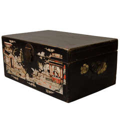 Lacquered Chinoiserie  Chest