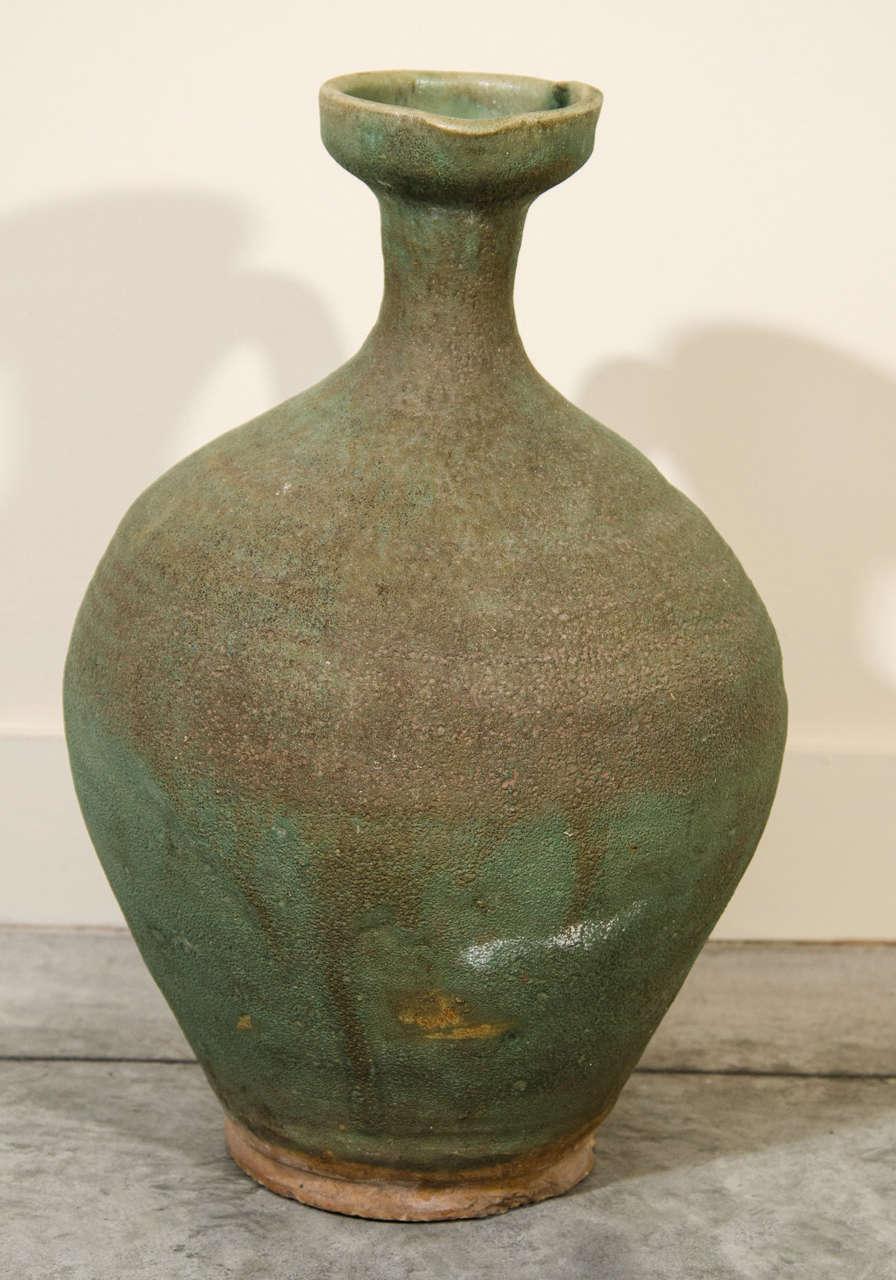 19th Century Antique Ceramic Wine Jar For Sale