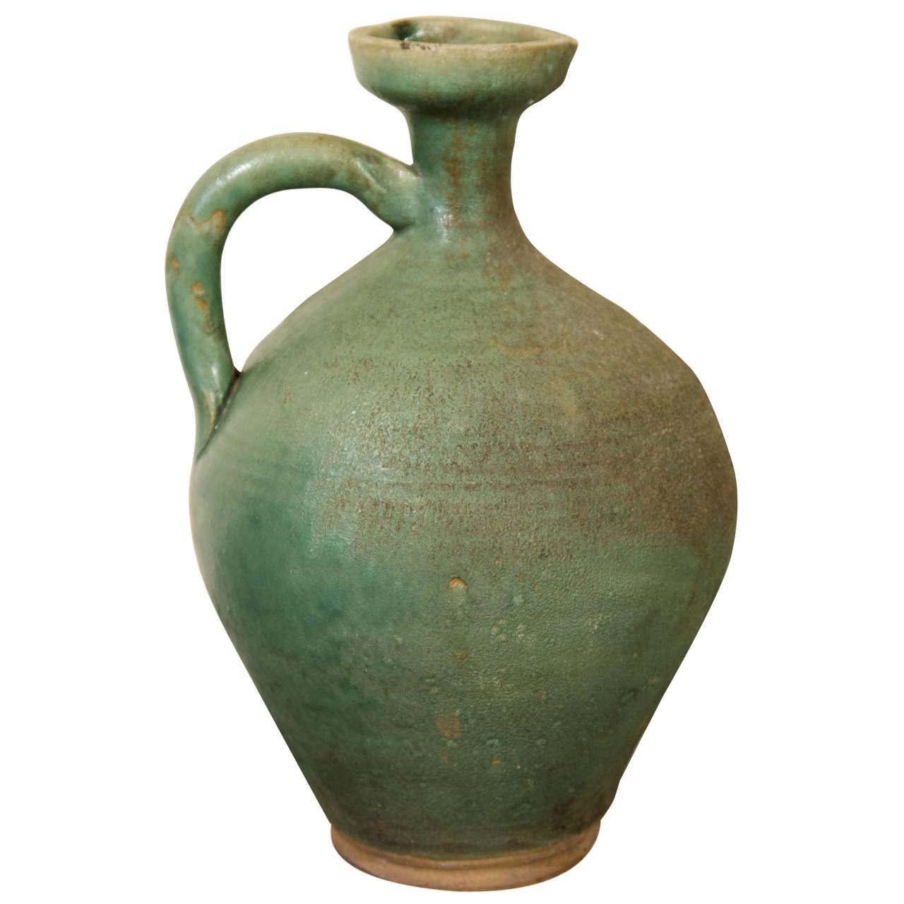 Antique Ceramic Wine Jar For Sale