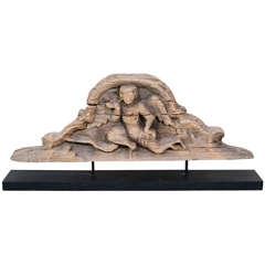 Antique Burmese Carved Lintel