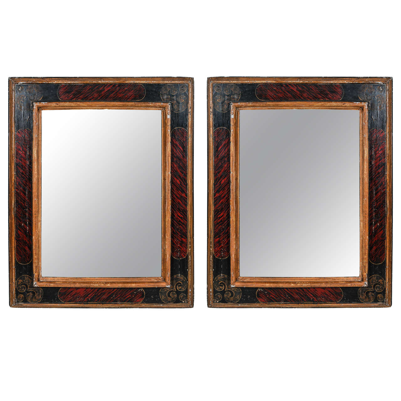 tuscan frames with mercury glass mirrors at 1stdibs