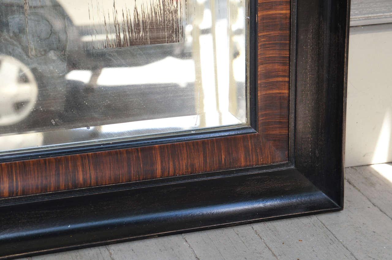 Edwardian Rosewood Grain Painted & Ebonized Mirror For Sale