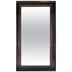 Rosewood Grain Painted & Ebonized Mirror