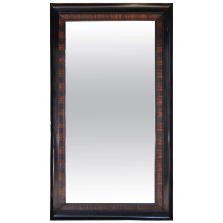 Rosewood Grain Painted & Ebonized Mirror For Sale