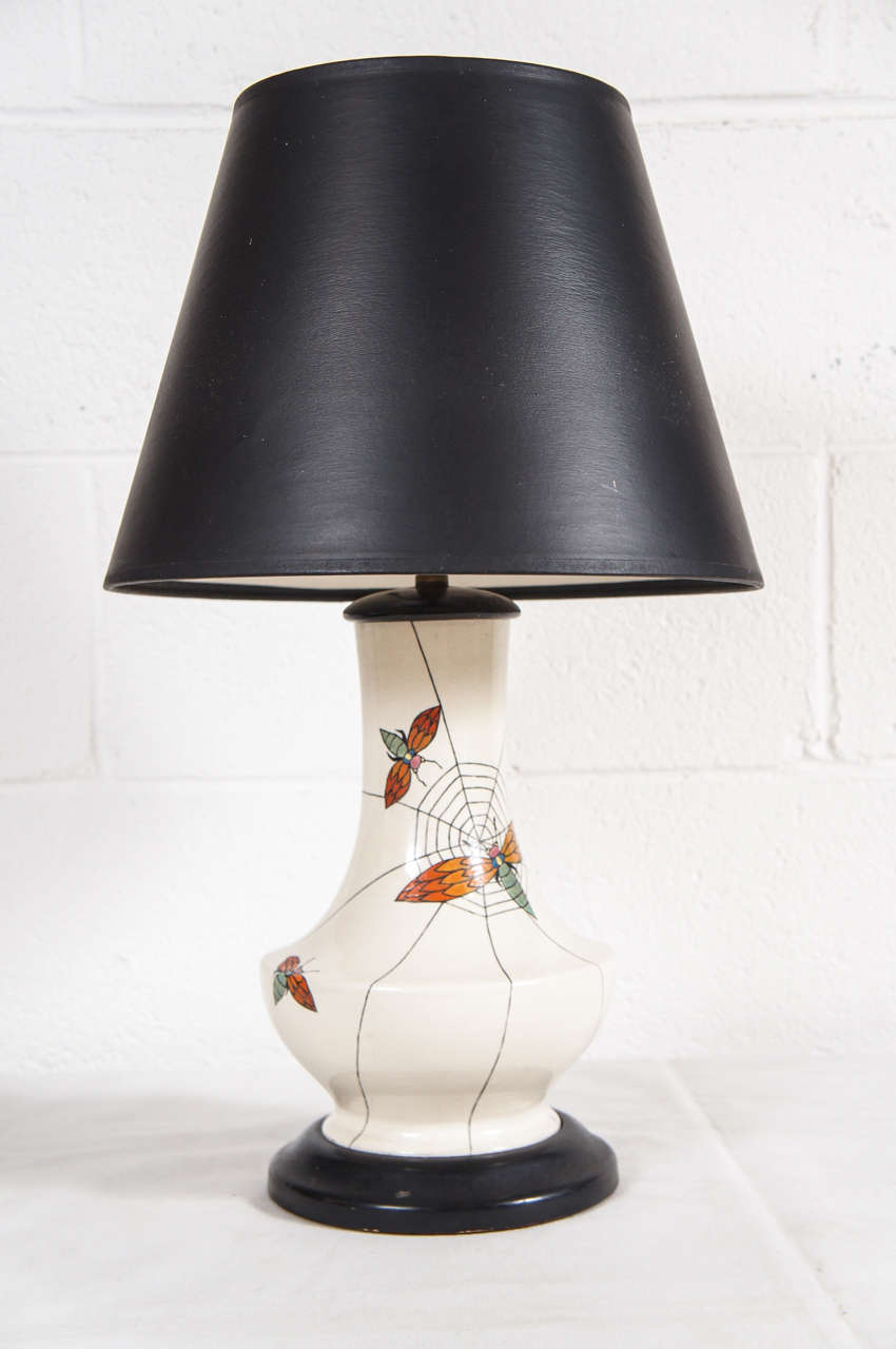 A unique spider lamp with webbing for sale at 1stdibs for What is a spider lamp