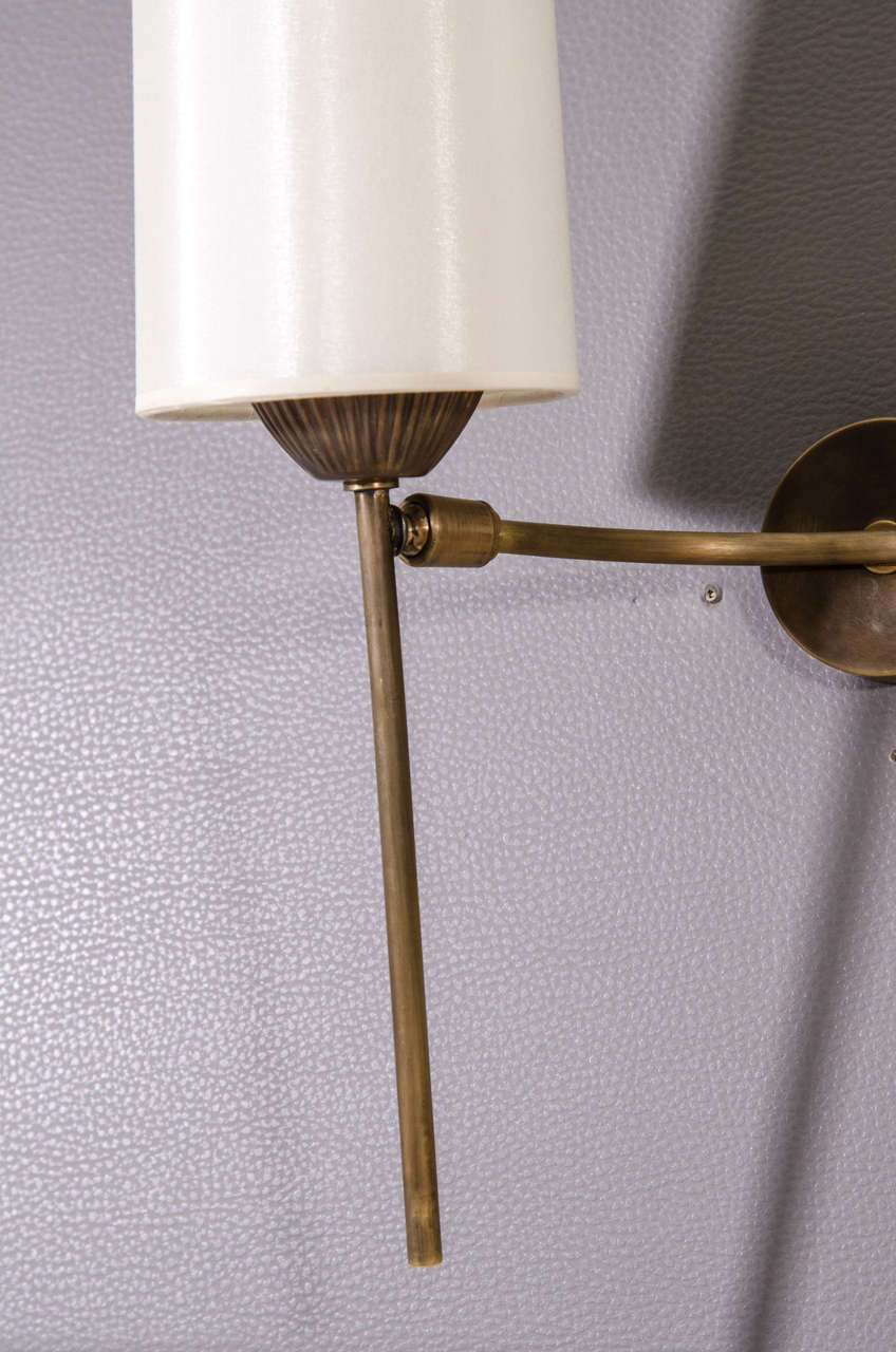 Pair of Articulated Sconces In Excellent Condition For Sale In New York, NY