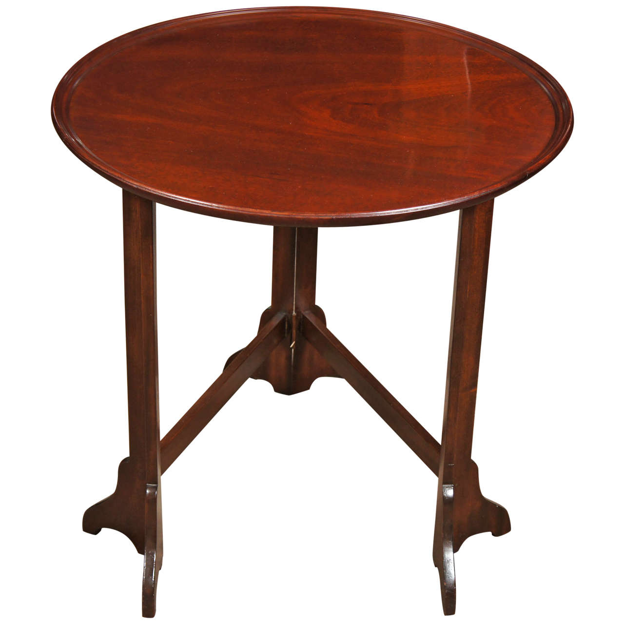 George Iii Style Mahogany Fold Up Side Table At 1stdibs