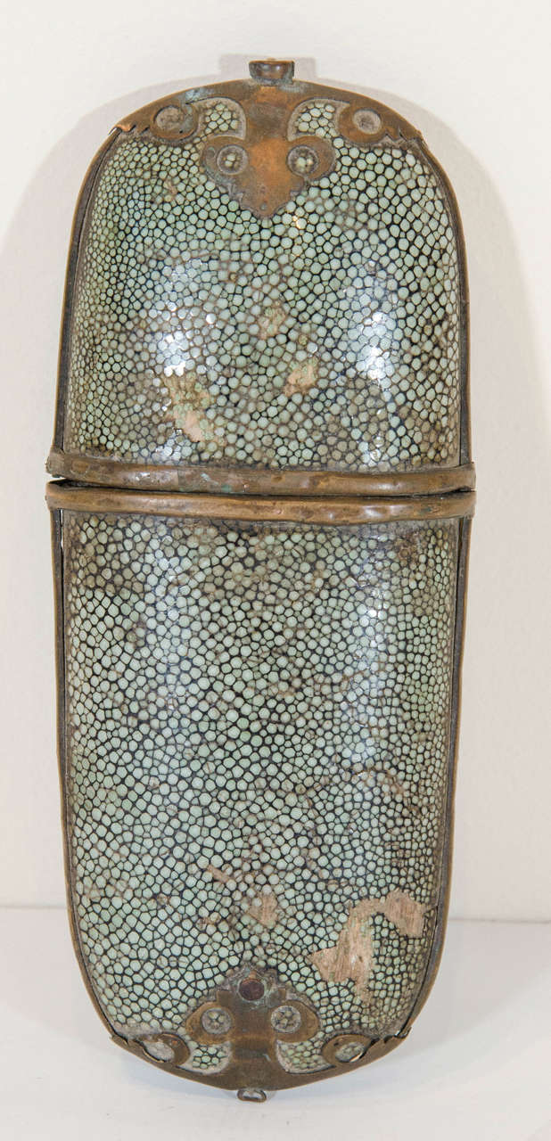 Antique Eyeglasses With Shagreen Case For Sale At 1stdibs