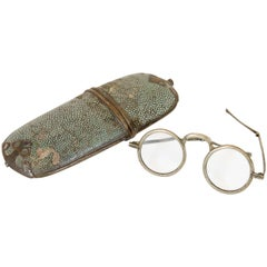 Antique Eyeglasses with Shagreen Case