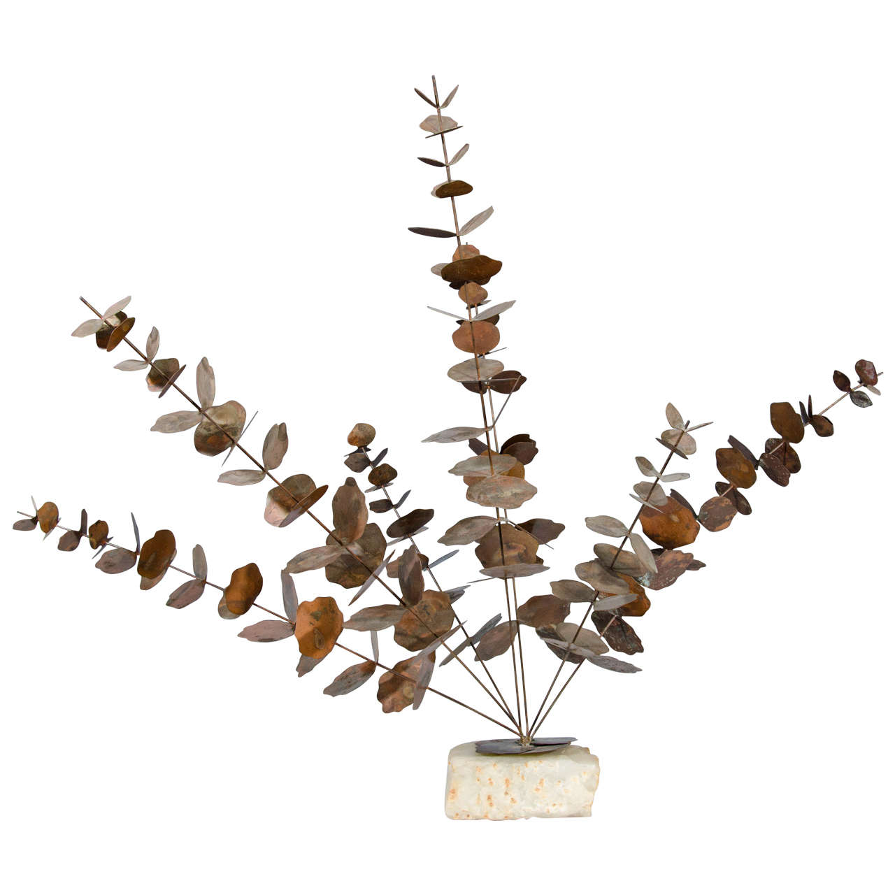 Midcentury Sculpture of a Eucalyptus Tree