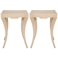 Midcentury Pair of Paul Frankl Inspired End Tables