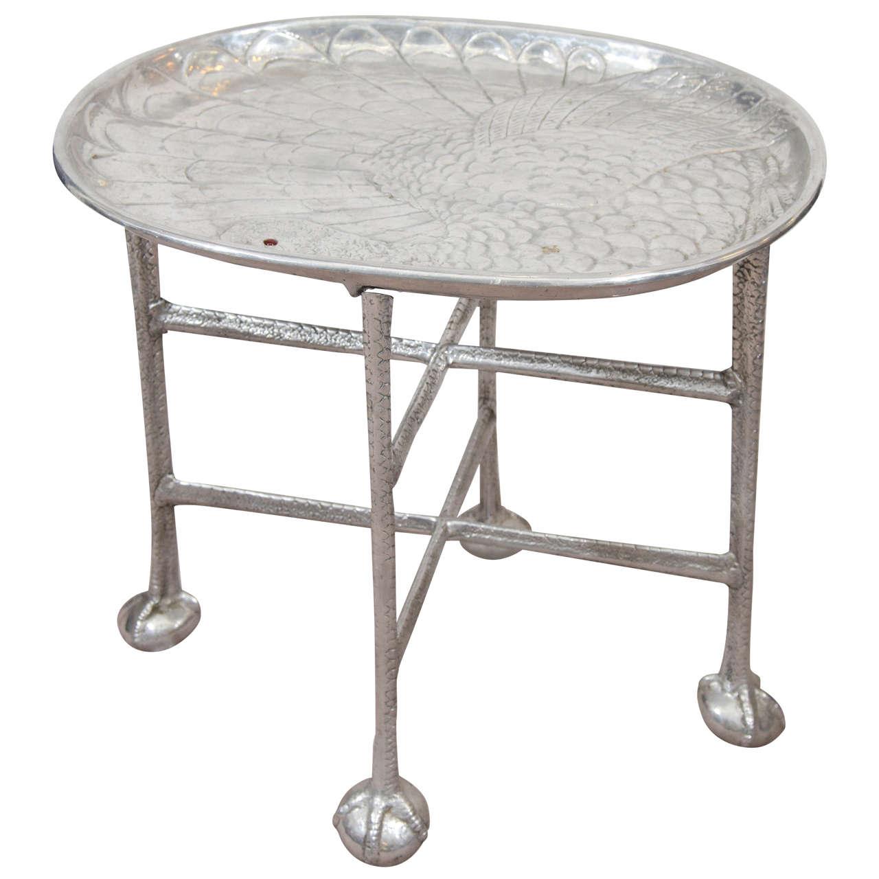 Arthur Court Aluminum Platter on Stand For Sale at 1stdibs on