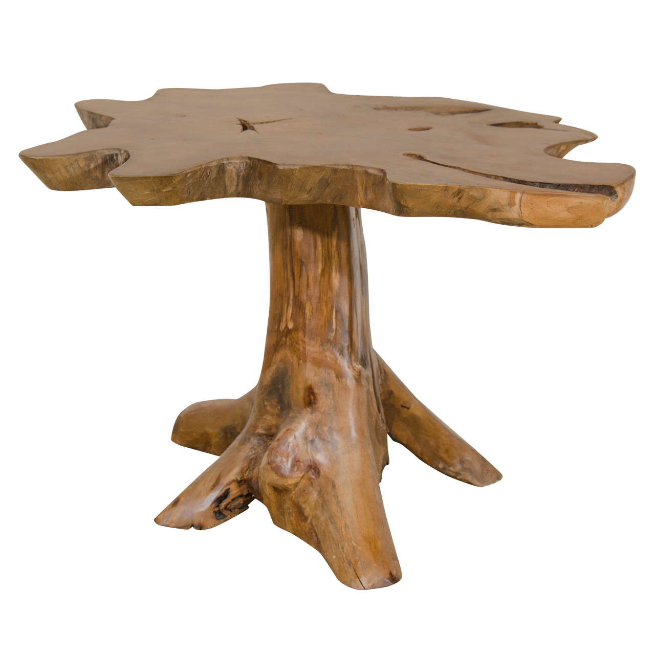 Vintage Burled Cypress Wood Live Edge Side Table At 1stdibs: Vintage Live Edge, Wood Occasional Or Side Table At 1stdibs